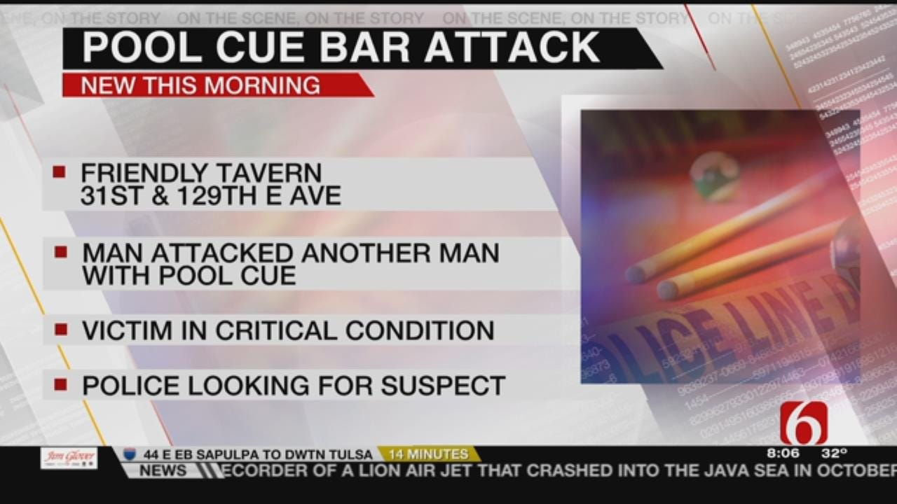 Man In Critical Condition After Being Struck By Pool Cue At Tulsa Bar