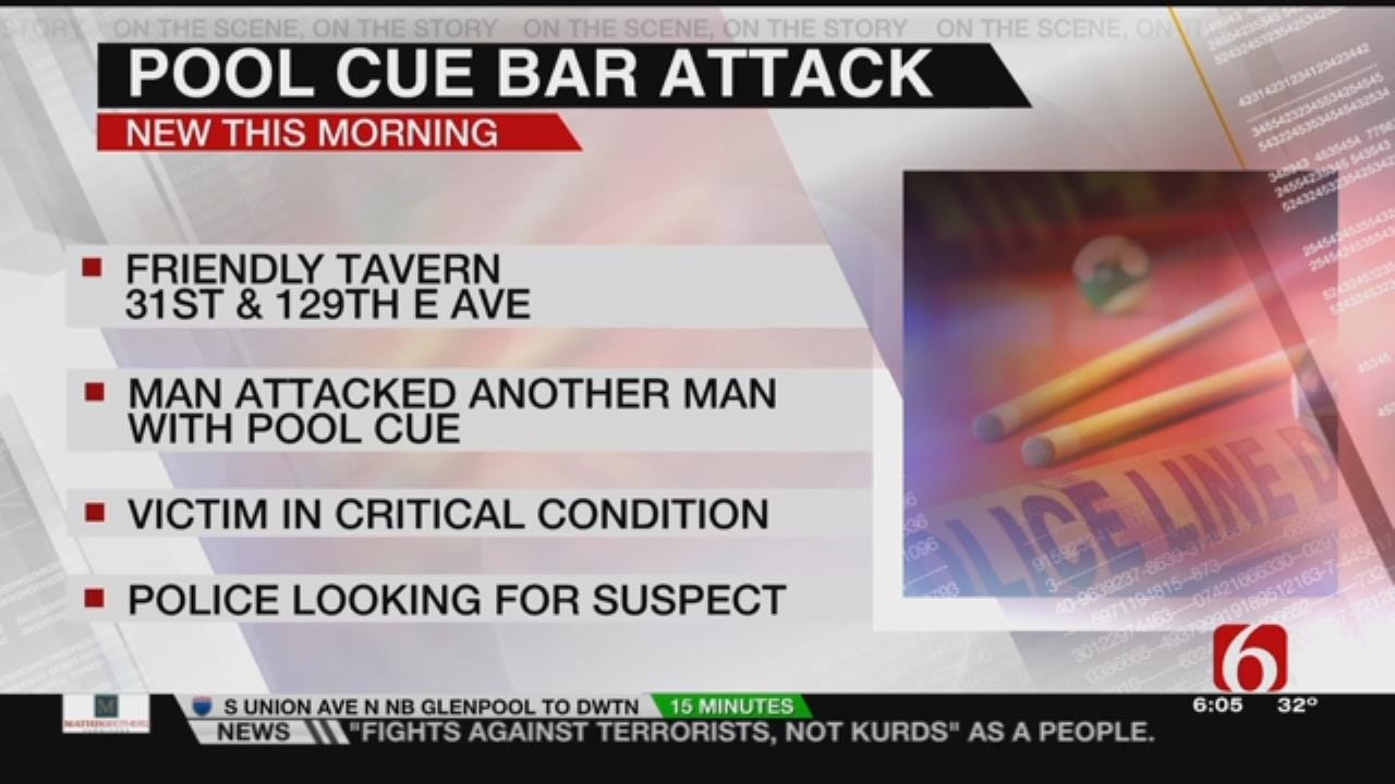 Tulsa Man Attacked With Pool Cue In Critical Condition