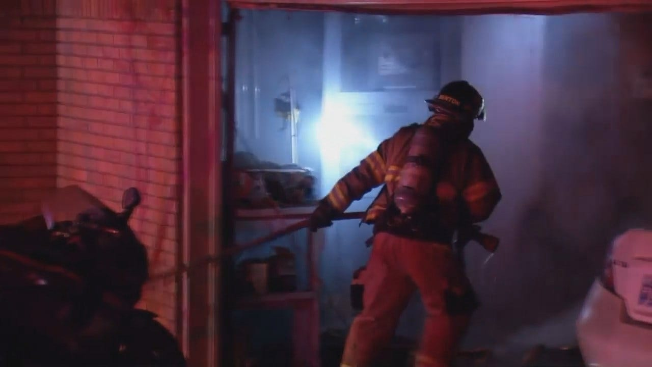 Video From Scene Of Tulsa House Fire
