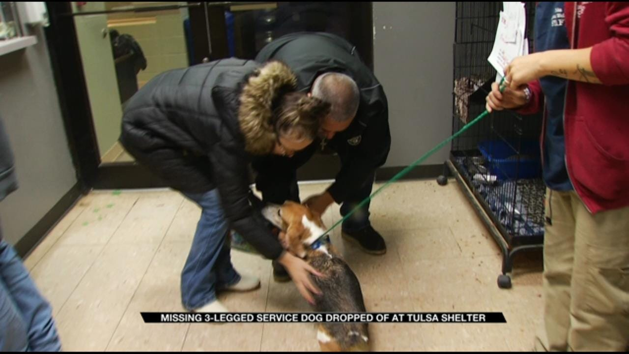 Jenks Family Reunited With 3-Legged Support Dog Tripod