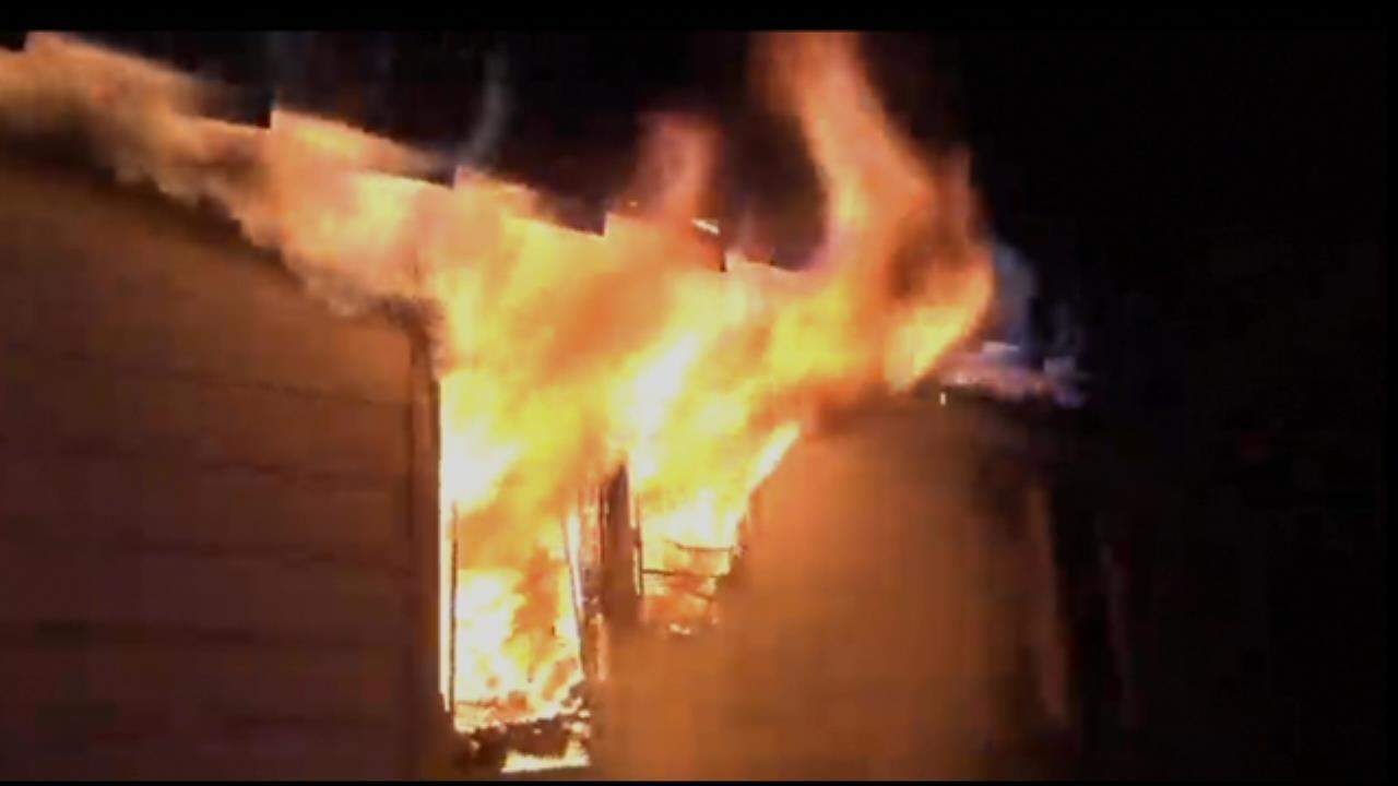 WATCH: Flames Rip Through Tulsa House