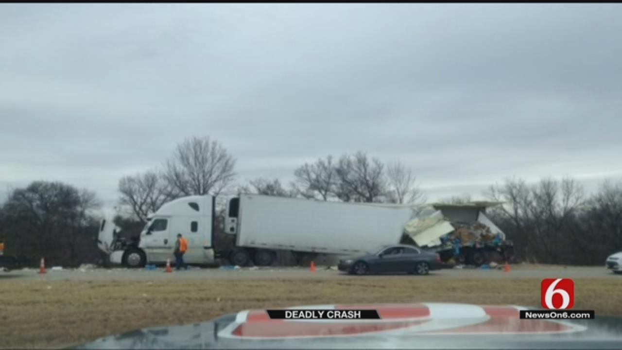 1 Dead In Truck Wreck On I-40 Near Henryetta