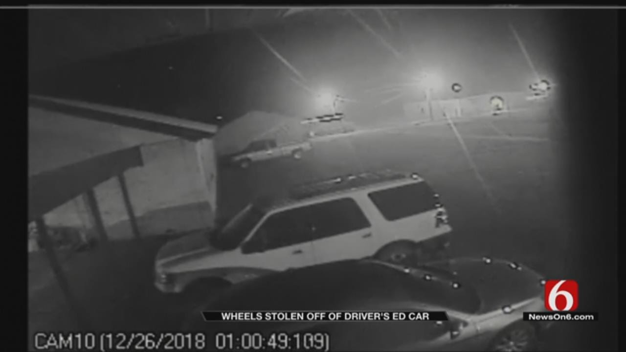 Thieves Steal Tires Off Haskell County School Driver's Ed Car