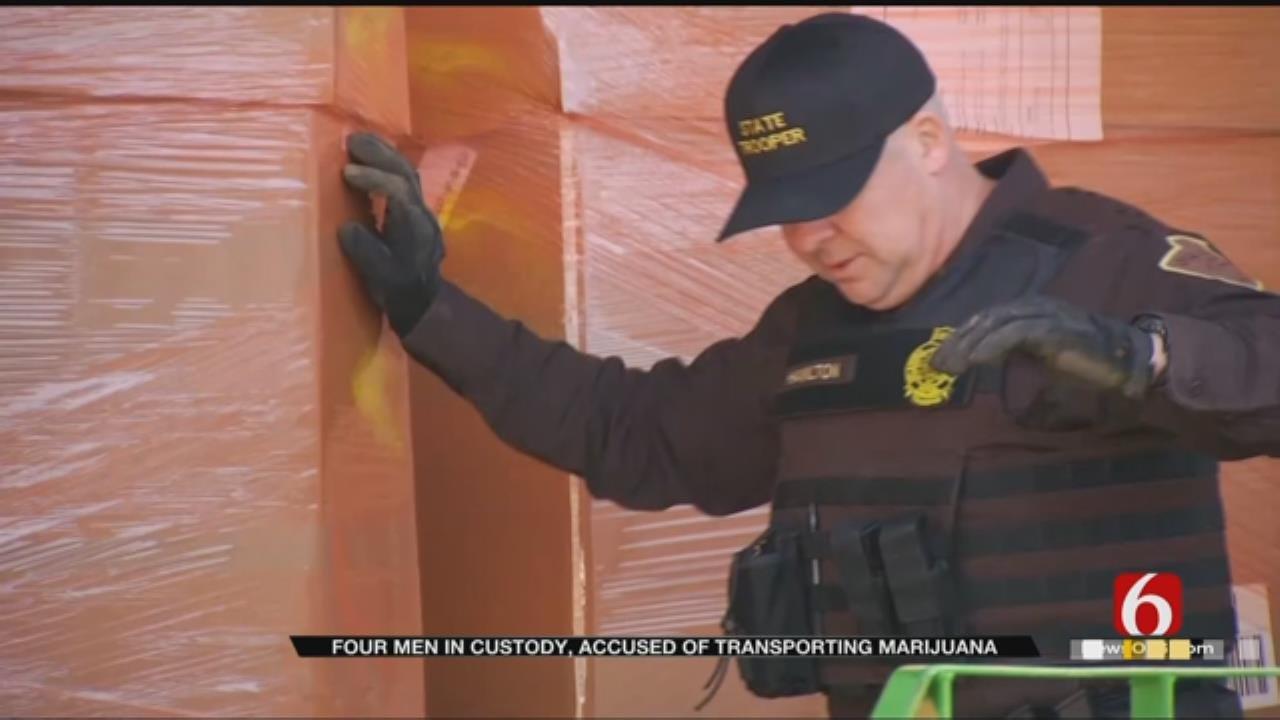 4 Men Accused Of Transporting Marijuana Taken Into Custody