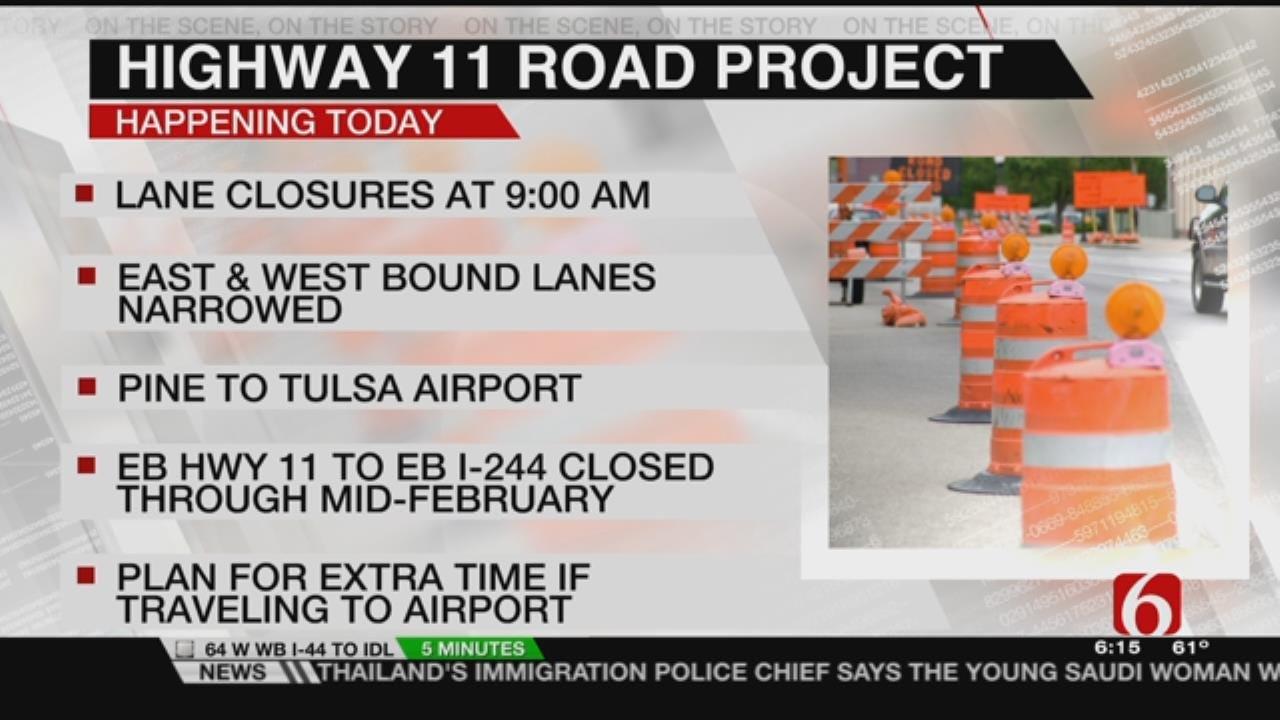 Year Long Highway 11 Bridge Project In Tulsa Gets Underway Monday