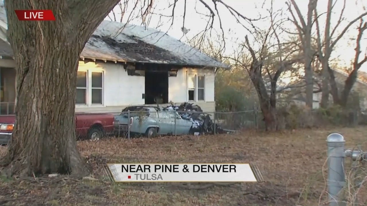 Tulsa Home Catches Fire, Firefighters Say Cause Not Yet Known