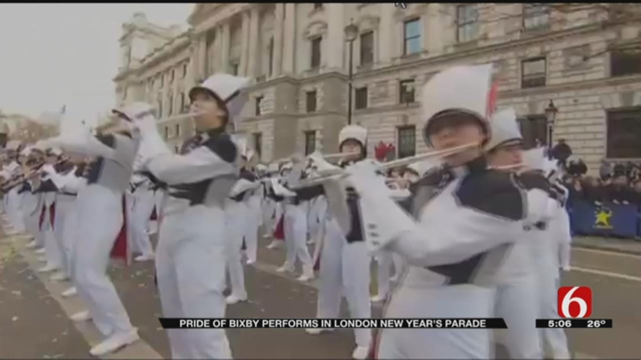 Pride Of Bixby Performs In London's New Year's Day Parade