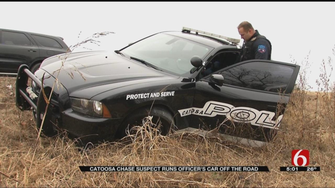 Catoosa Police Car Damaged In Stolen Vehicle Chase
