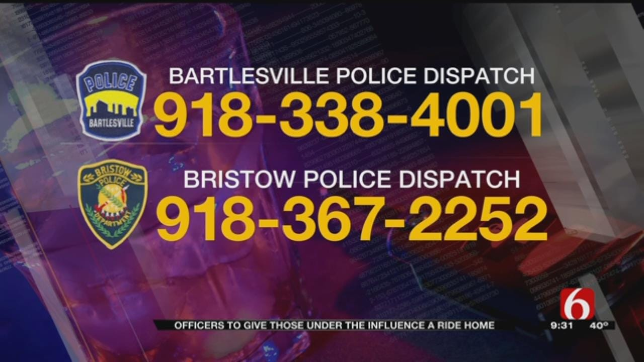 Bristow Police Offering Free Ride Home To Citizens On New Year's Eve