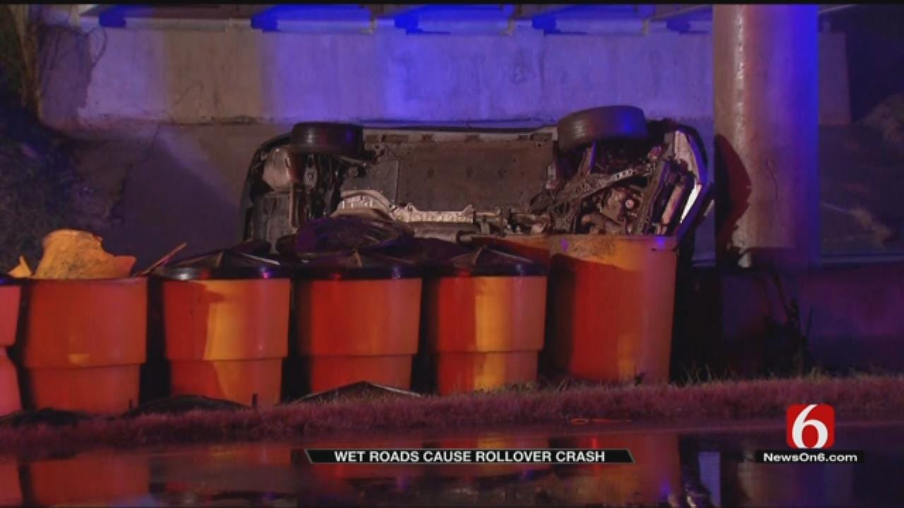 No Injuries Reported In Early Morning Rollover Crash