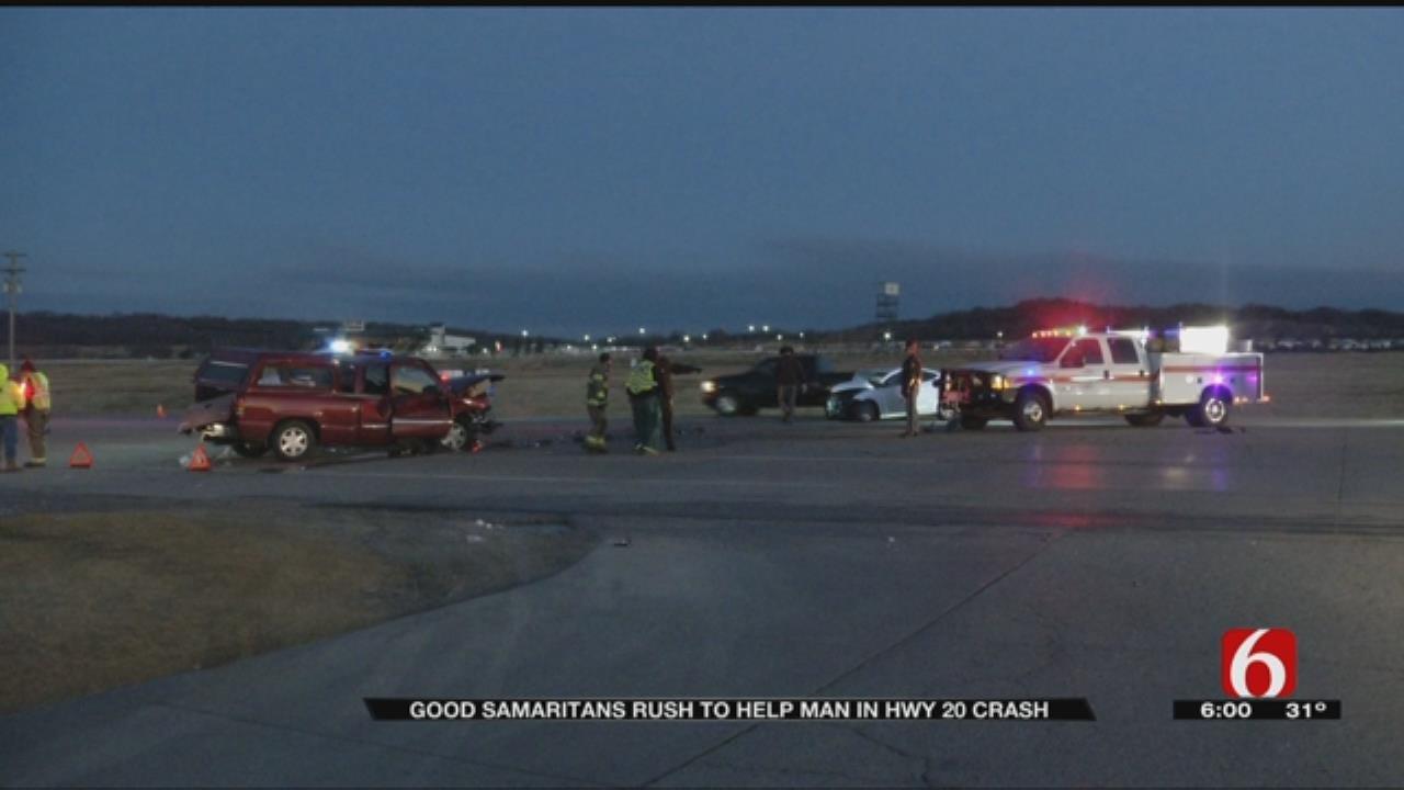 Good Samaritans Rush To Help Man In Hwy 20 Crash