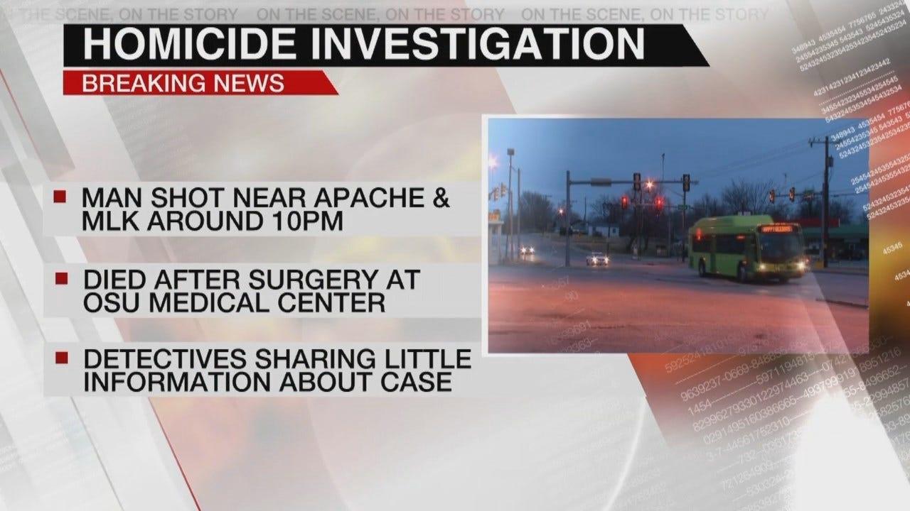 Tulsa Man Dies At OSU-Medical Center After Shooting