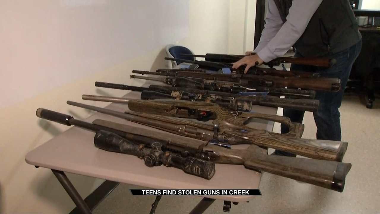 Teens Find Stolen Guns In Nowata County Creek