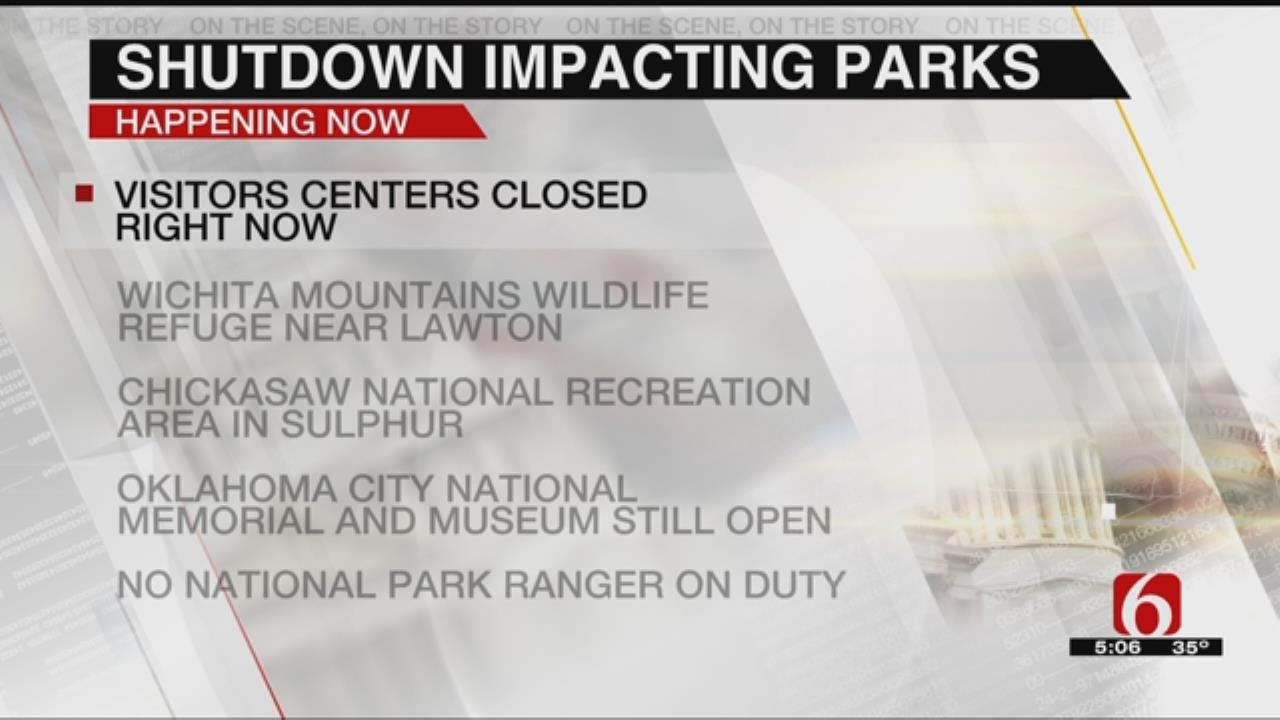 Oklahoma Parks Workers Furloughed In Government Shutdown