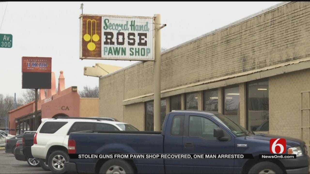 Tulsa Police Recover Stolen Guns, Arrest Suspect In Pawn Shop Robbery