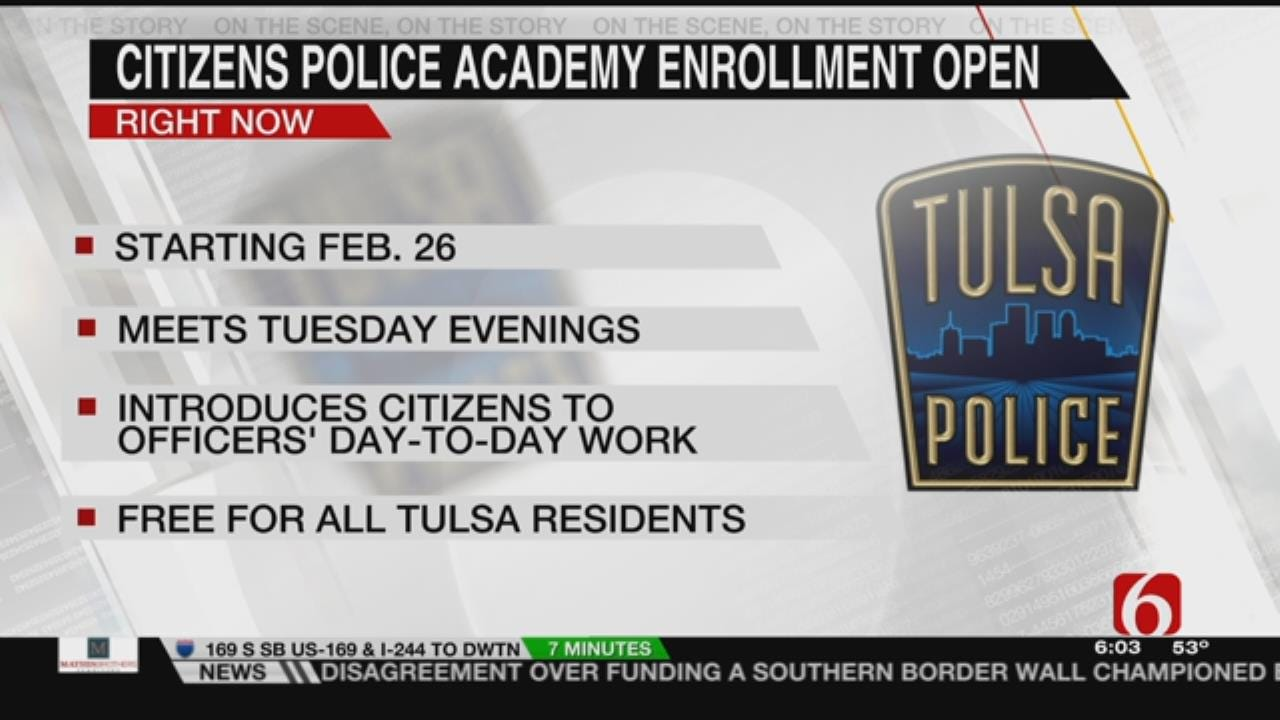 TPD Seeks Applicants For Their Citizen Police Academy