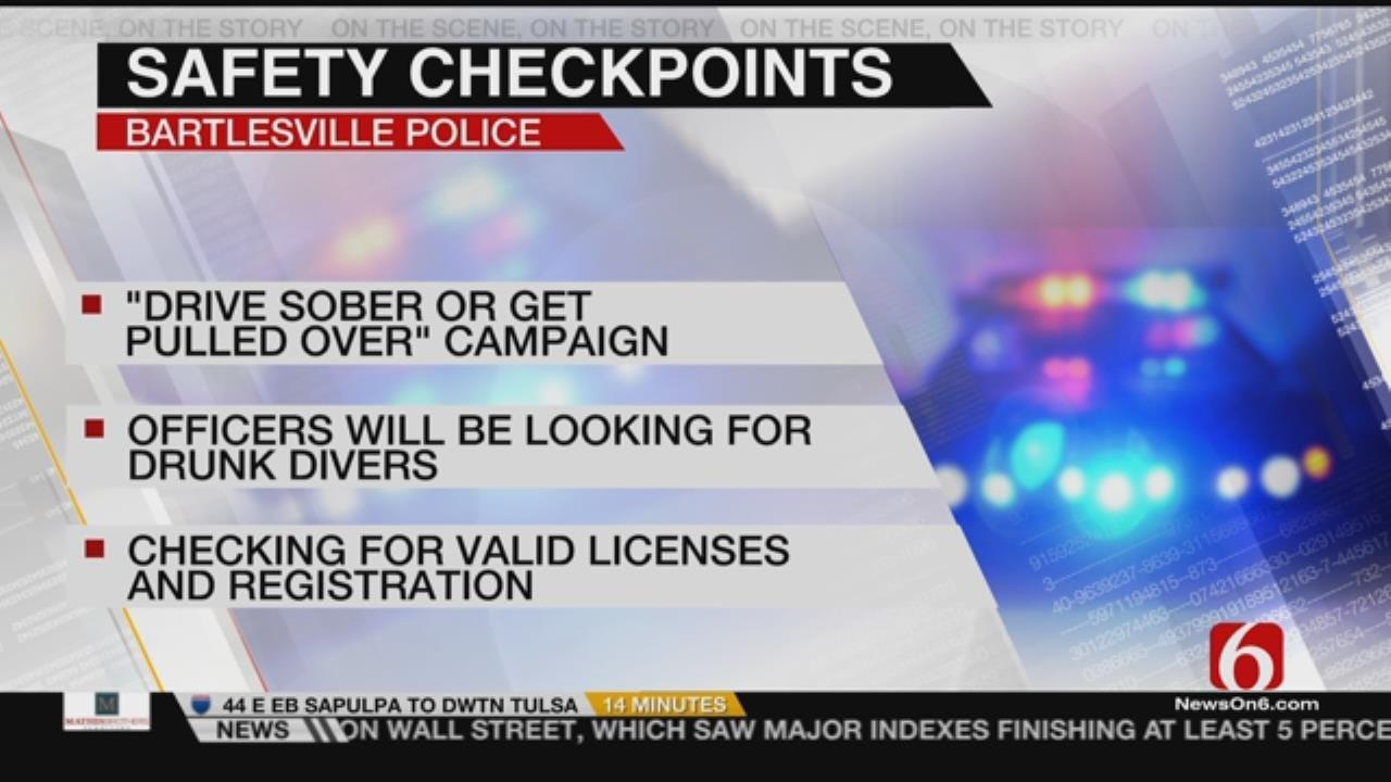 Drive Sober Or Get Pulled Over, Bartlesville Police Warn