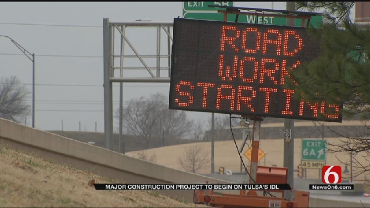 Several Lanes To Close As IDL Construction Project Begins In Tulsa