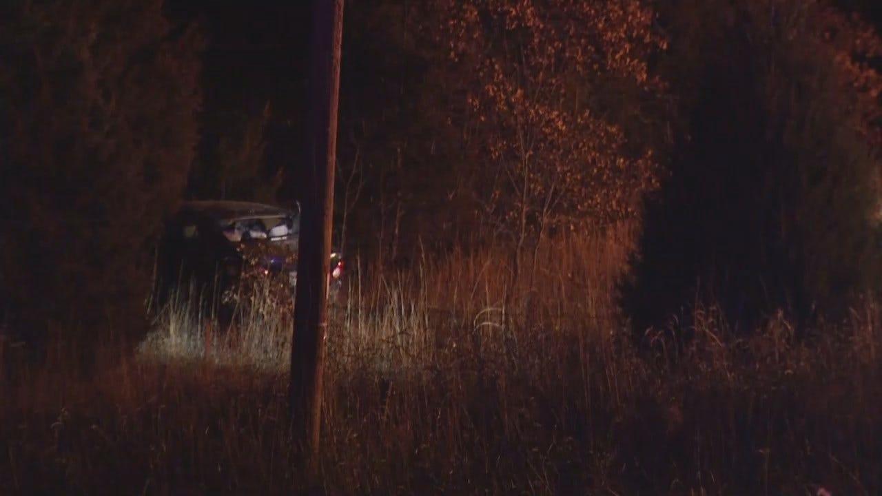 Video From Scene Of Car Crash Near Mannford