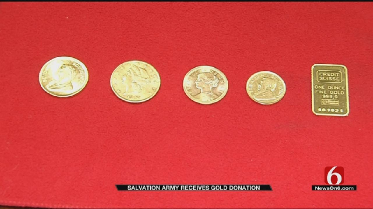 Gold Bar Donated To Salvation Army In Tulsa