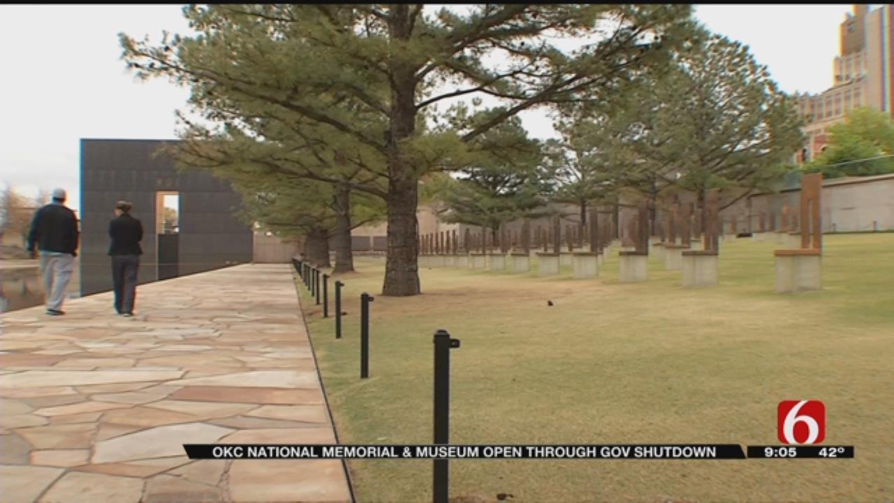 Oklahoma City Memorial To Remain Open During Shutdown
