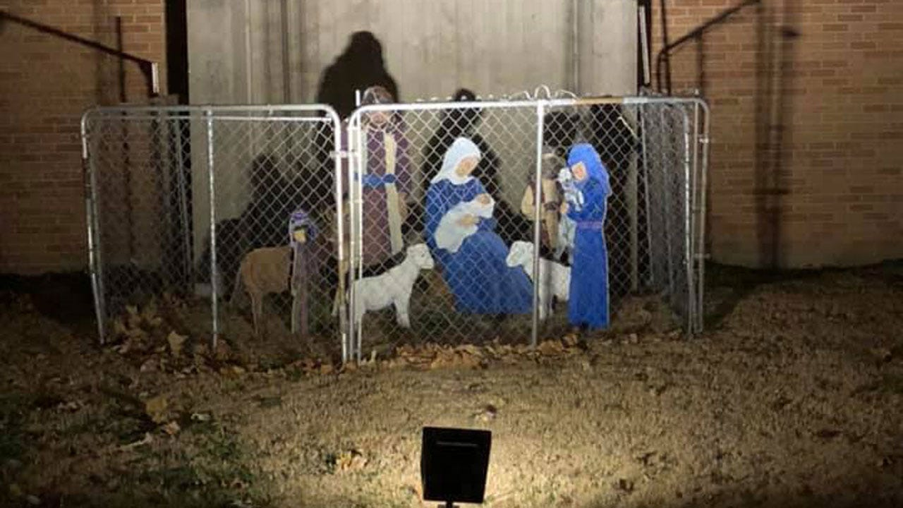 Tulsa Church Gets National Attention For Fenced-In Nativity Scene