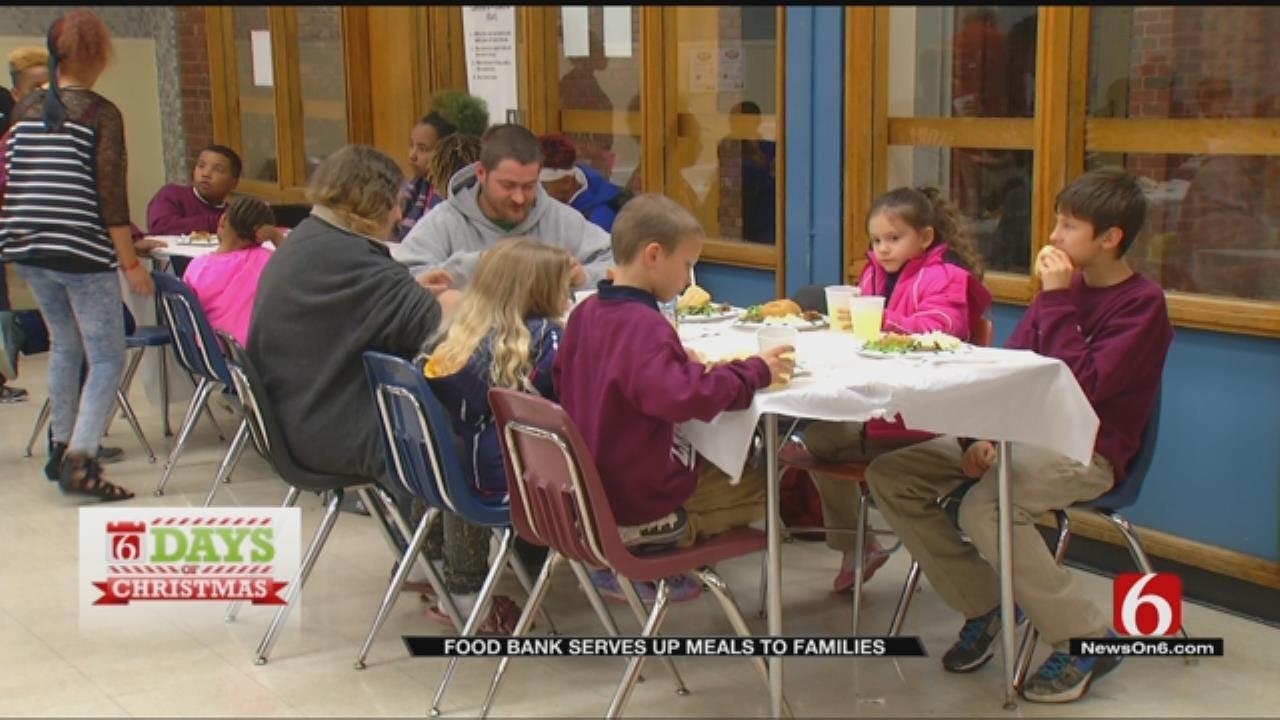 Serving Food To Families At Tulsa Public Schools
