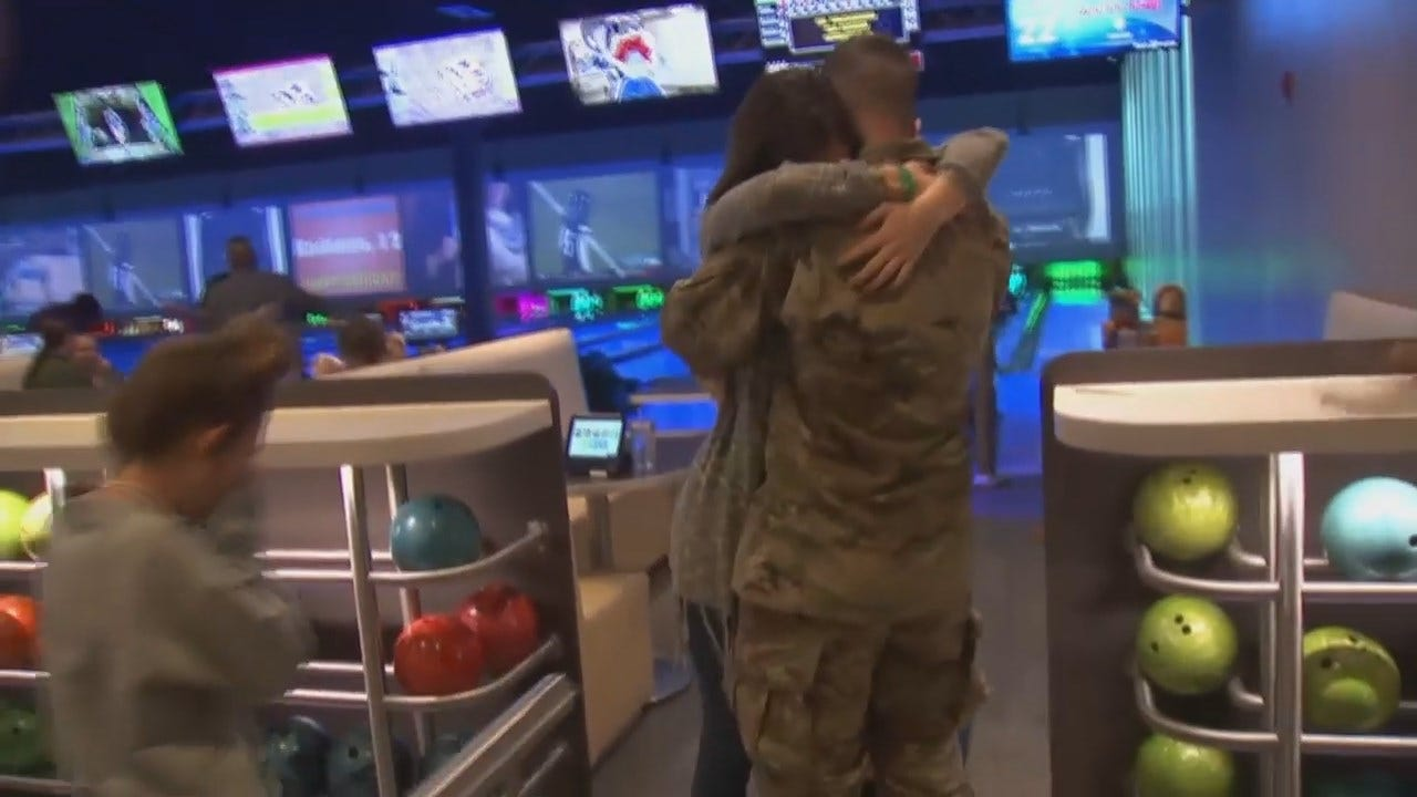 Watch: Tulsa Area Soldier's Homecoming Surprise