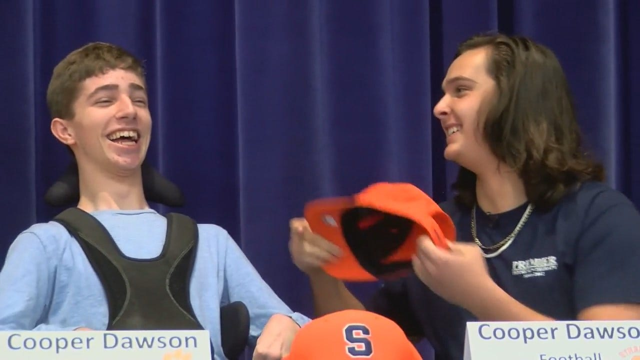 WATCH: Football Player Gets Assist On National Signing Day