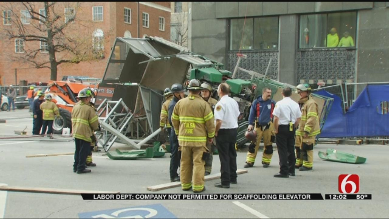 Collapsed Scaffolding Elevator Built Without Proper Permits, Report Says