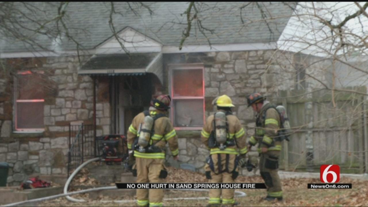 Fire Damages Sand Springs Home
