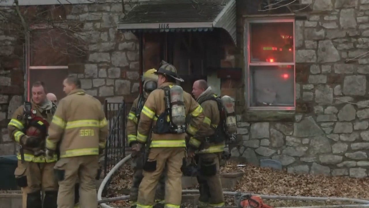 Video From Scene Of Sand Springs House Fire