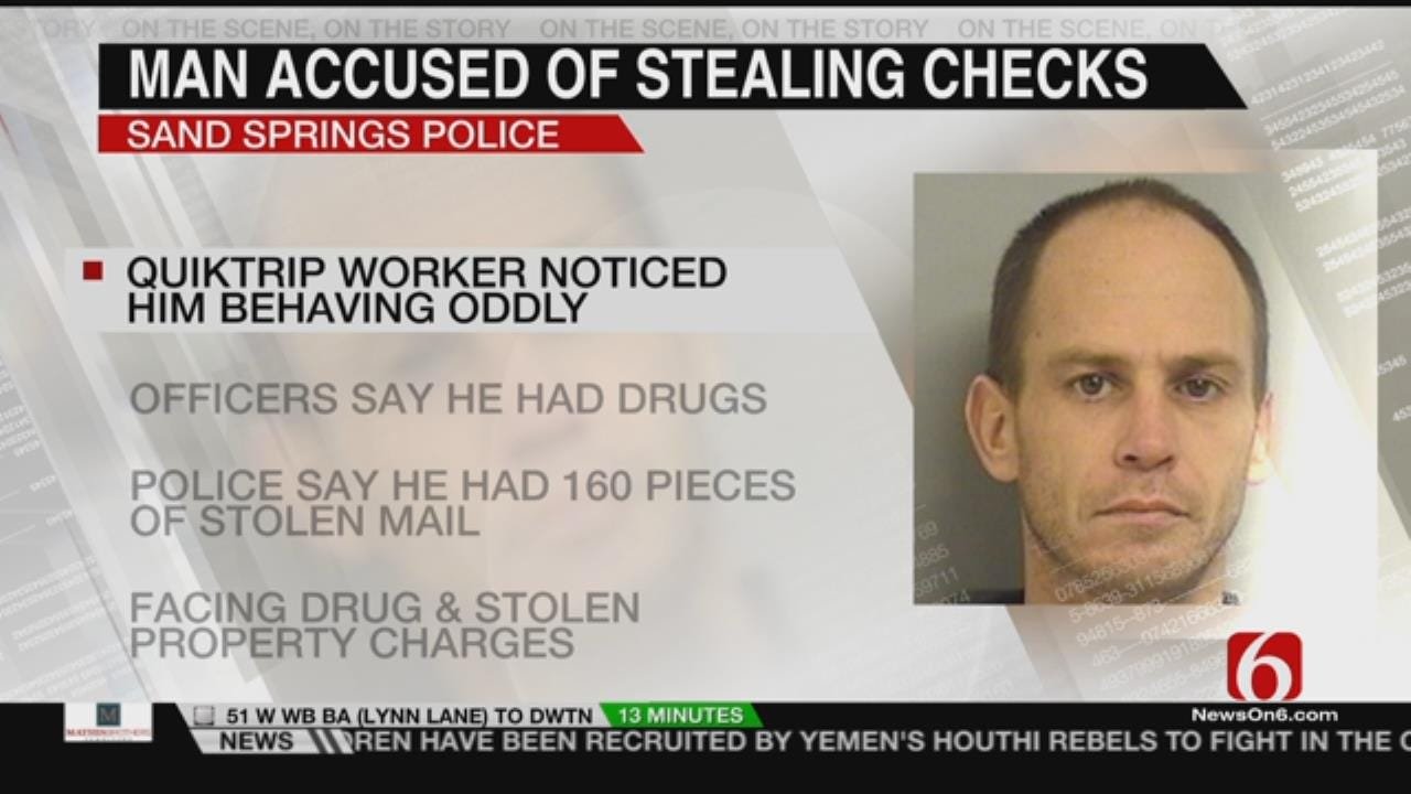 Man Arrested In Sand Springs Leads To Cache Of Stolen Checks