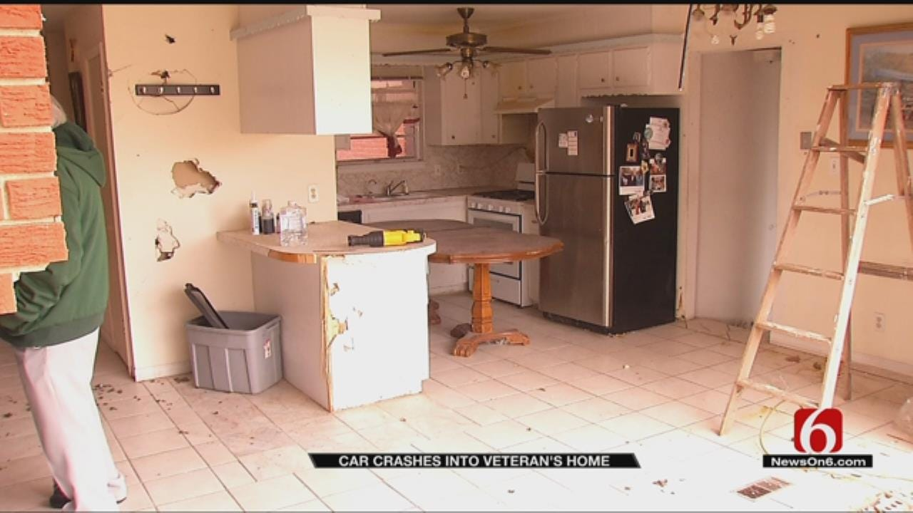 Truck Crashes Into Tulsa Vet's Home