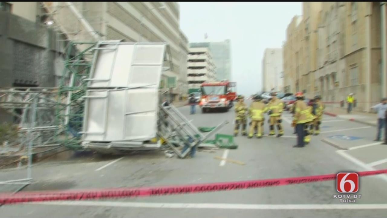 Tulsa Fire Department Update On Tulsa Scaffolding Collapse