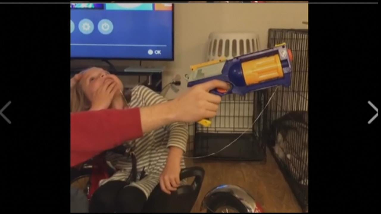WATCH: Oklahoma Dad Uses Nerf Gun To Remove Daughter's Tooth