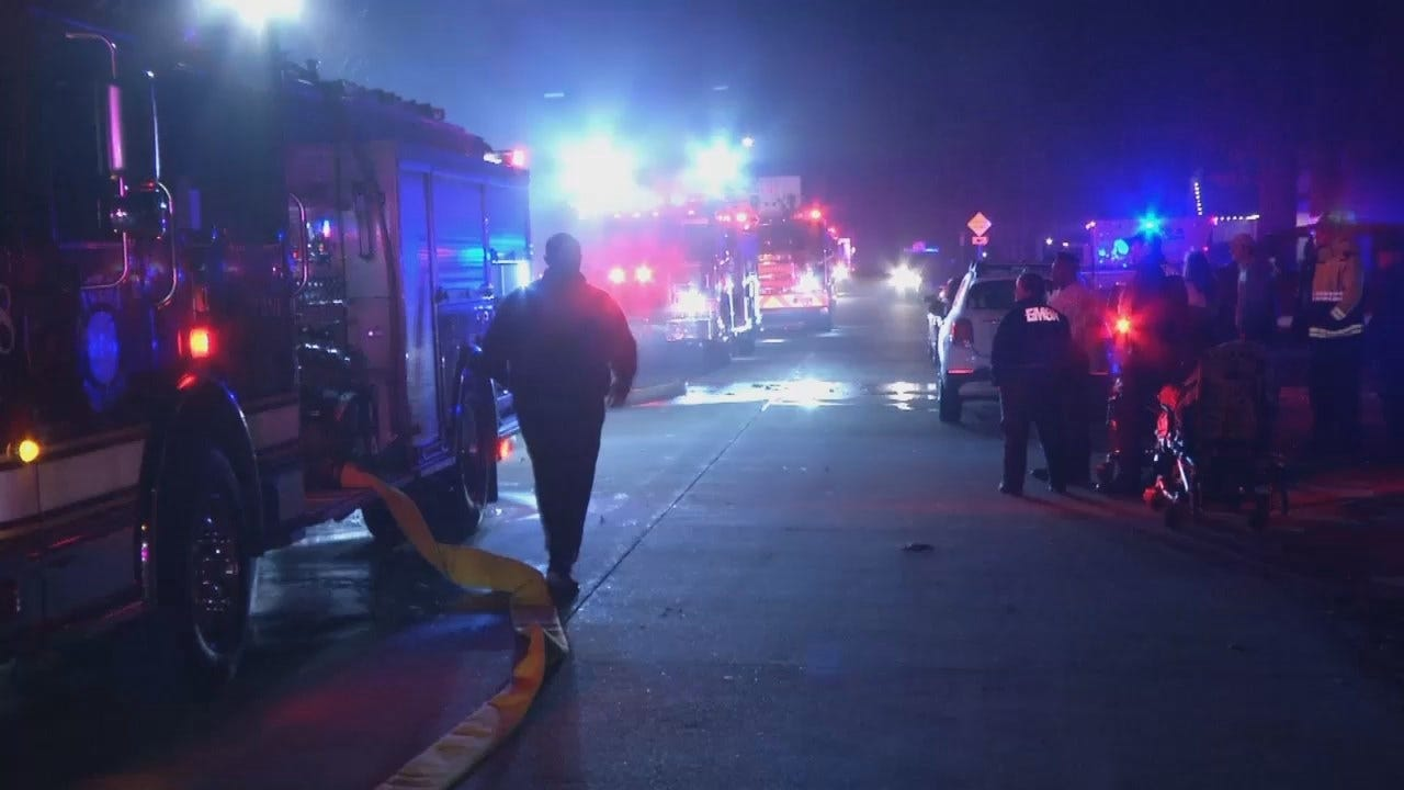 Video From Scene Of Tulsa House Fire Early Tuesday