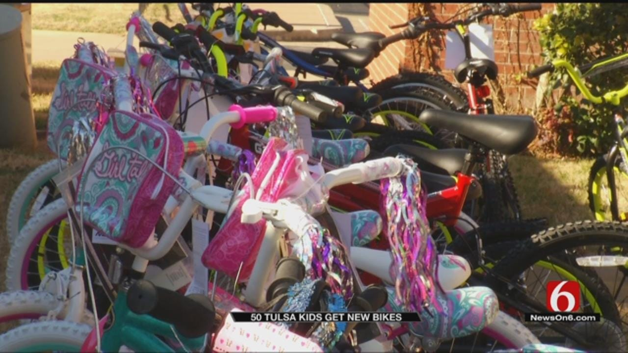 Inola Church Provides Bicycles For Kids With Perfect Attendance