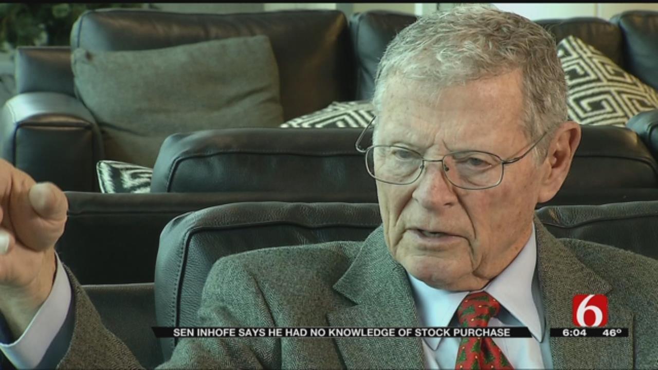 Senator Jim Inhofe Discusses Defense Stock Purchase Controversy