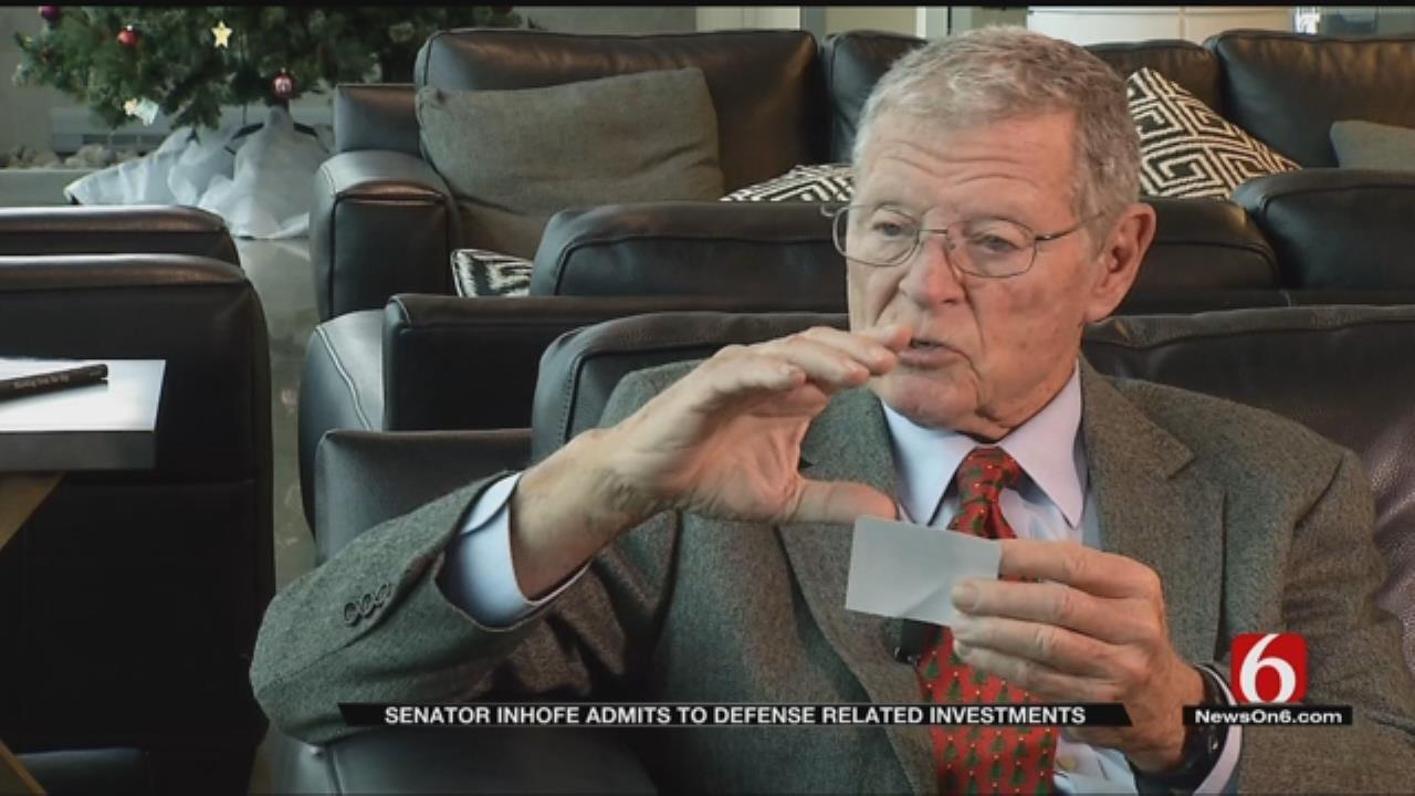 Senator Inhofe Says Decision To Sell Defense Stock Wasn't His