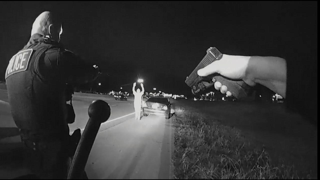 Dashcam Video Shows DUI Driver Eluding Tulsa Police