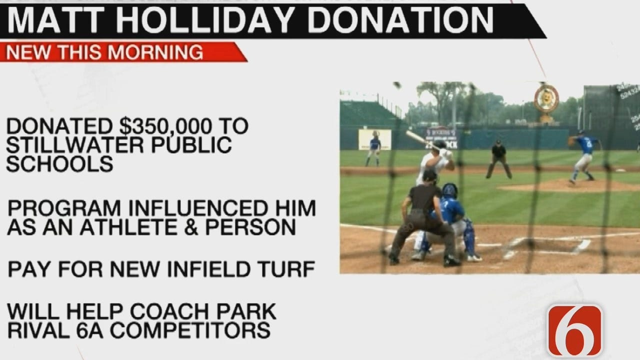 Tess Maune Reports Oklahoma Baseball Great Gives Back To His High School Alma Mater
