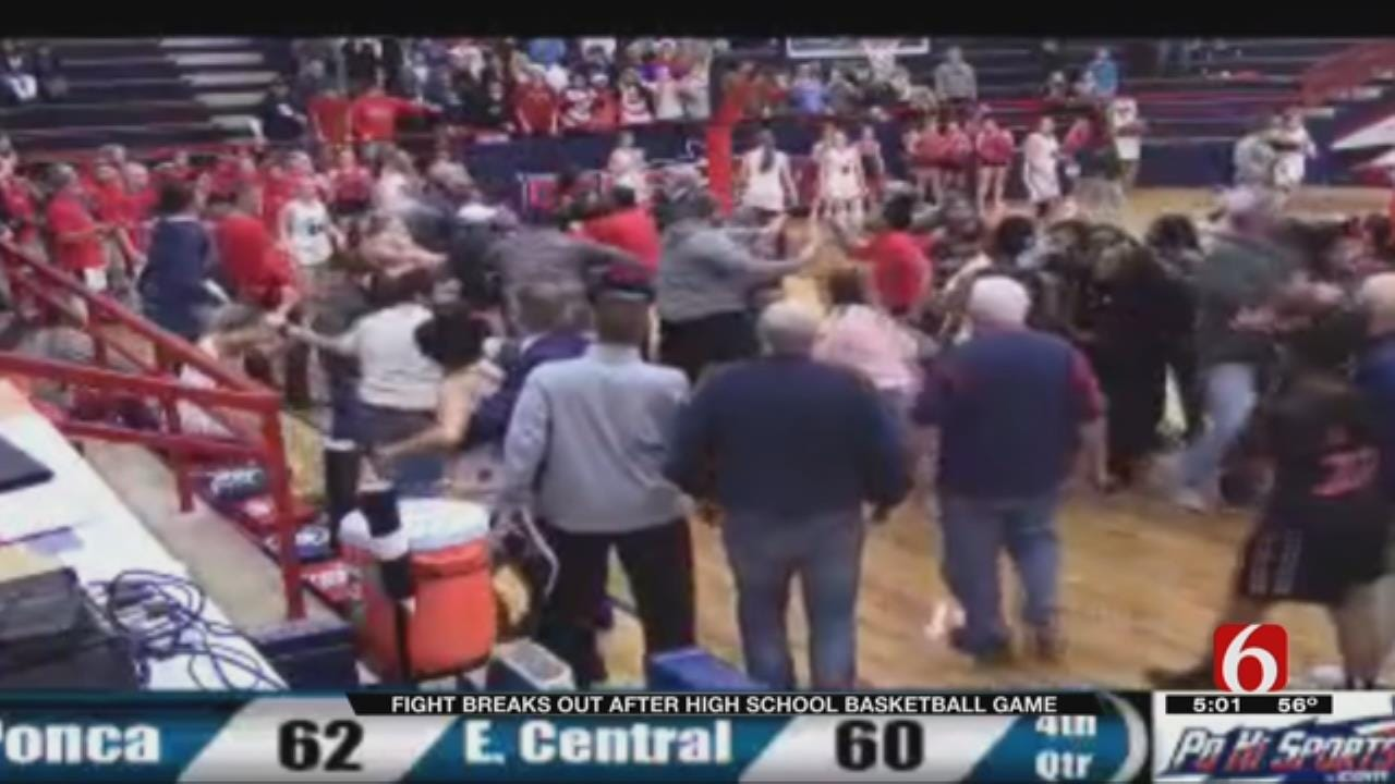 Brawl Breaks Out At Tulsa High School Girls Basketball Game