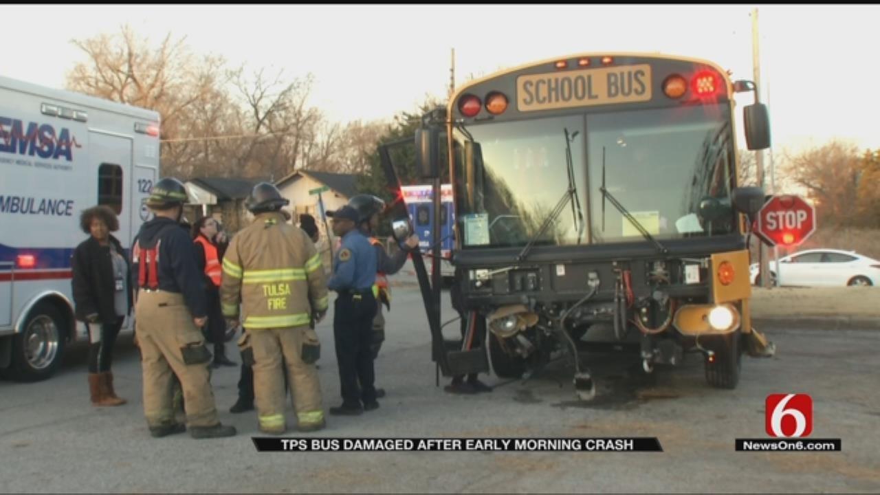 TPS Bus Hits Car At Tulsa Intersection, Police Say
