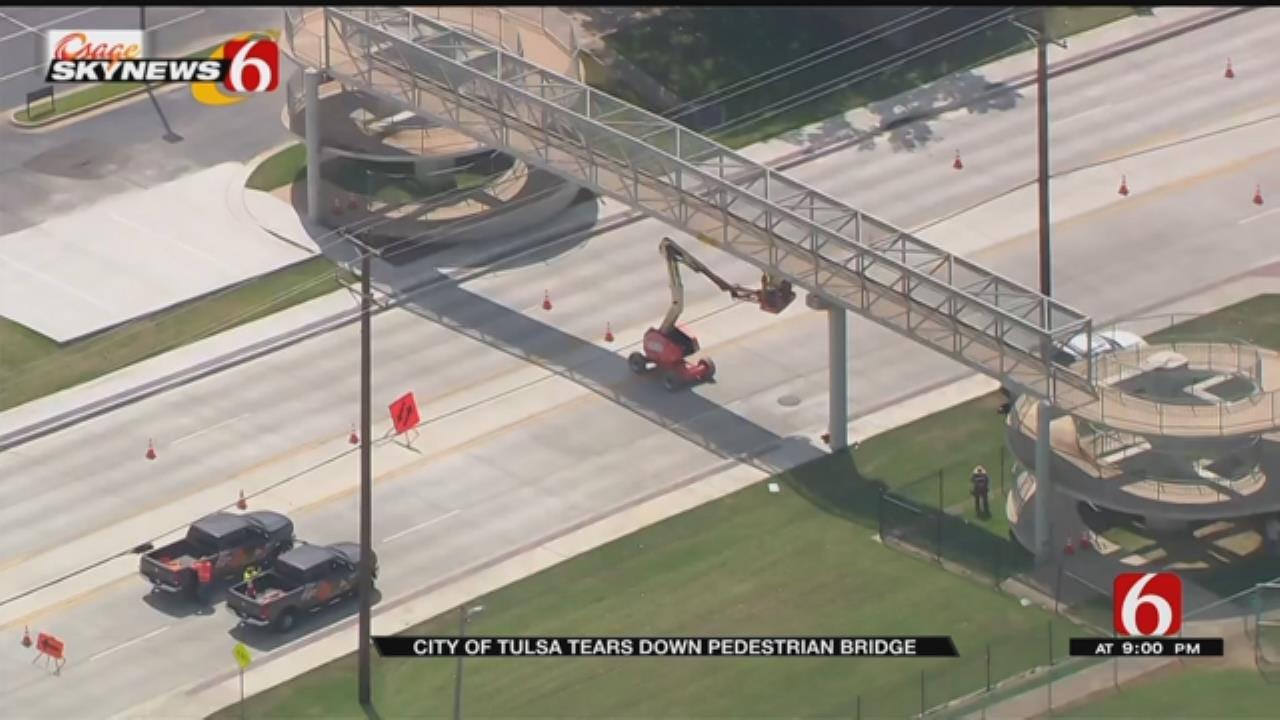 City Of Tulsa To Replace Pedestrian Bridge With Traffic Light