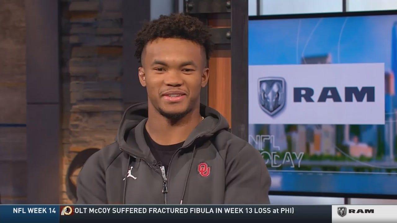 Kyler Murray Interviewed On CBS NFL Today On Sunday