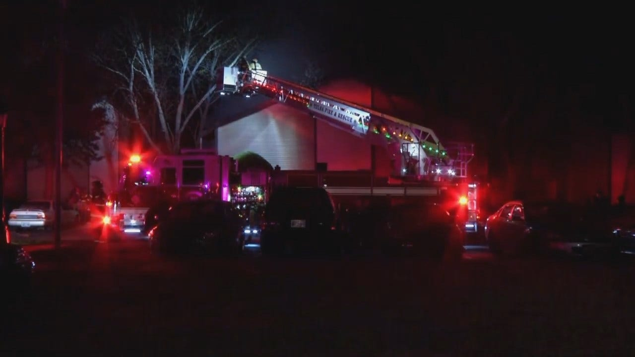 Video From Scene Of Tulsa Apartment Fire