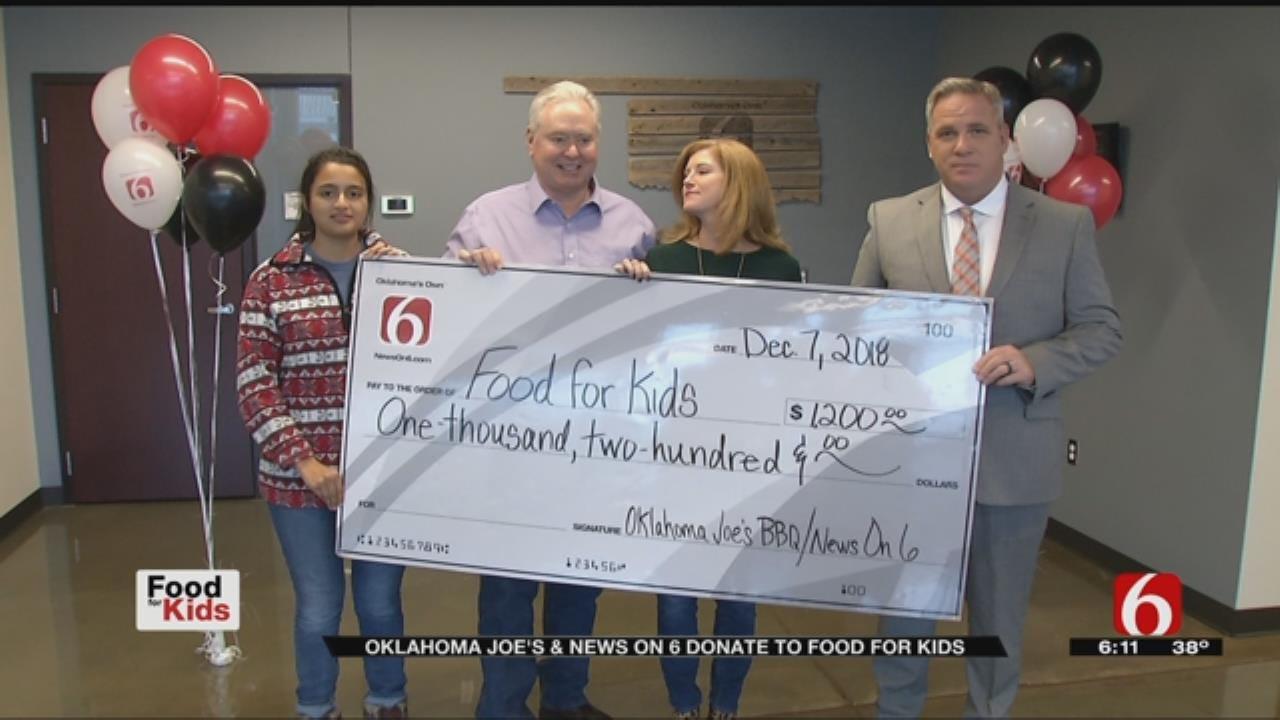 Oklahoma Joe's Makes Big Donation To Food For Kids
