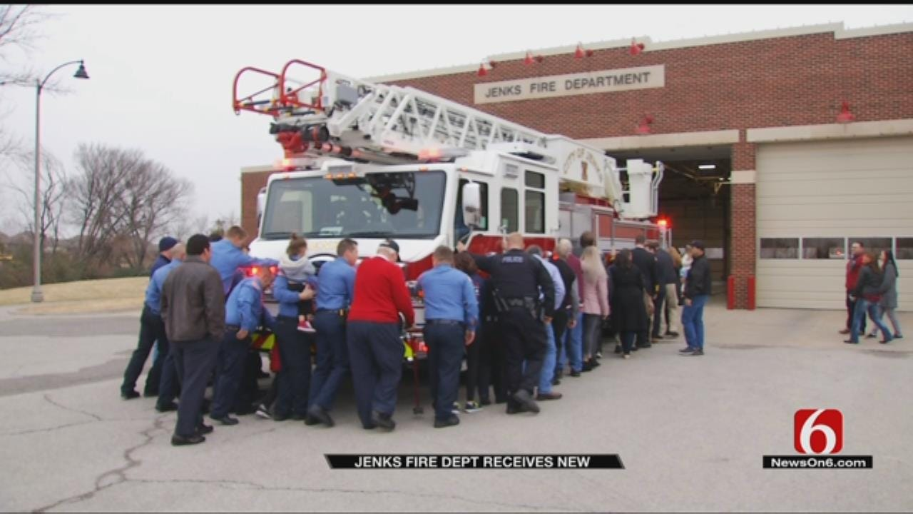 Jenks Firefighters Hold Ceremony For New Truck