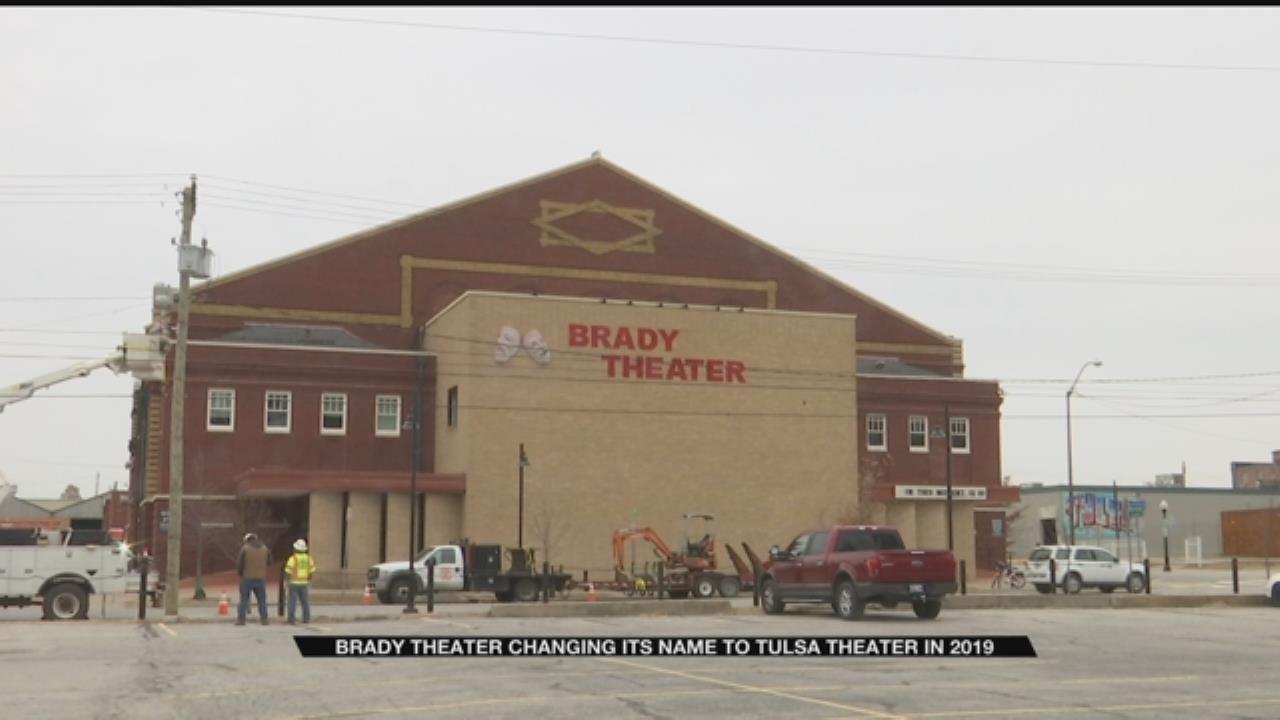 Brady Theater To Change Name To Tulsa Theater